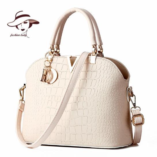 2017 New Women Handbags Famous Brands Women Messenger Bag Alligator Pattern PU Leather Handbags Shell Shoulder Bag Crossbody Bag