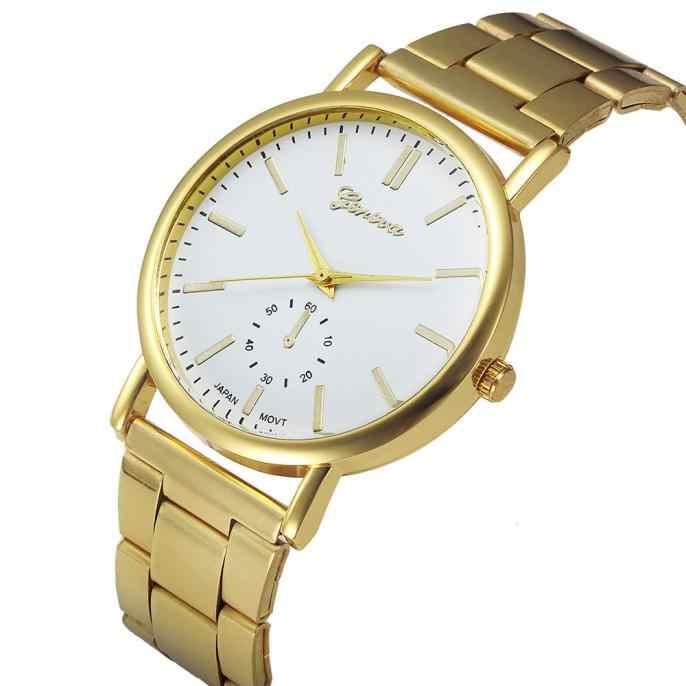 2018 nueva marca original de cristal de acero inoxidable relojes de mujer reloj de cuarzo reloj vestido de señora Relojes