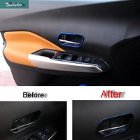 Cover Case Stickers For Nissan KICKS 2016 17 Car Styling 4 PCS ABS Carbon Fiber Door