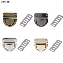 SFDVBB Metal Clasp Turn Lock Twist for DIY Handbag Bag Purse Hardware Closure