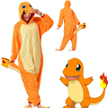 Pokemon Charmander Go Unisex Adulta Onesies Animales Nocturnos Cosplay de Lana Polar Pijamas Charmander anime cartoon Japonés