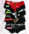 Hip-Hop JAZZ Sexy Low waist Lace Stitching PU Leather Short Pants Pole Dance DS Costumes Nightclubs Stage Wear, 4-color