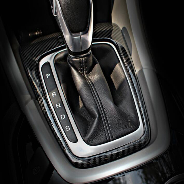 JXKaFa For Ford Fusion Mondeo 2013-2015 Car Interior Mouldings Gear Shift Panel Cover Trim Car Styling ABS Carbon Fiber Style 2