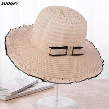 Alta calidad femenina olas sombrero grande del sol del borde del jpg  350x350 Sombreros de calidad 2ab335b40e9