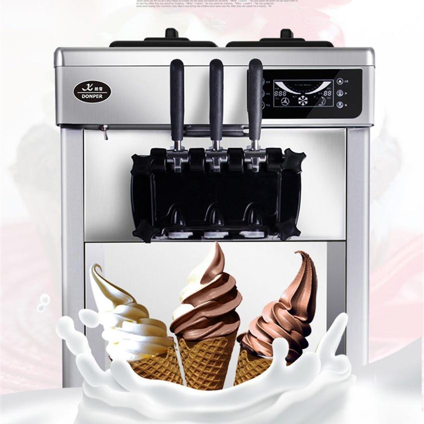 22L/H 220 В/50 ГЦ коммерческих столе мягкого мороженого, машины из нержавеющей стали ПРИВЕЛО сладкий лед крем конус авто мороженое