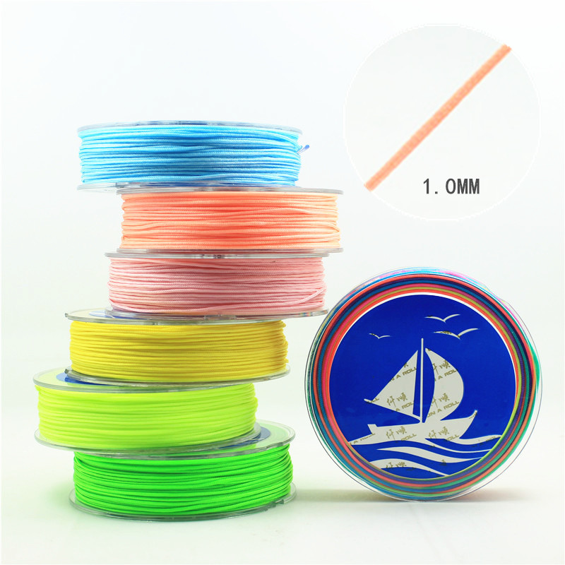 1mm  Nylon Cord Thread Chinese Knot Macrame Cord Bracelet Braided String DIY Tassels Beading  25m/roll 18 color