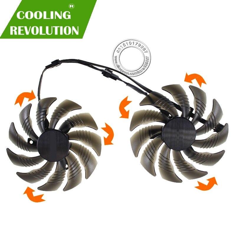 88 MM PLD09210S12HH T129215SU Carte Vidéo Ventilateur Refroidisseur pour GIGABYTE GTX 1050 1060 1070 Ti GV-RX570 580 AORUS RX 470 480 R9 380X Ventilateur