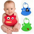 2015 Hot Sale Cartoon Skin Baby Bibs Eat Solid Convenience Health Silicone Waterproof Bib Freeshipping & Wholesale C05