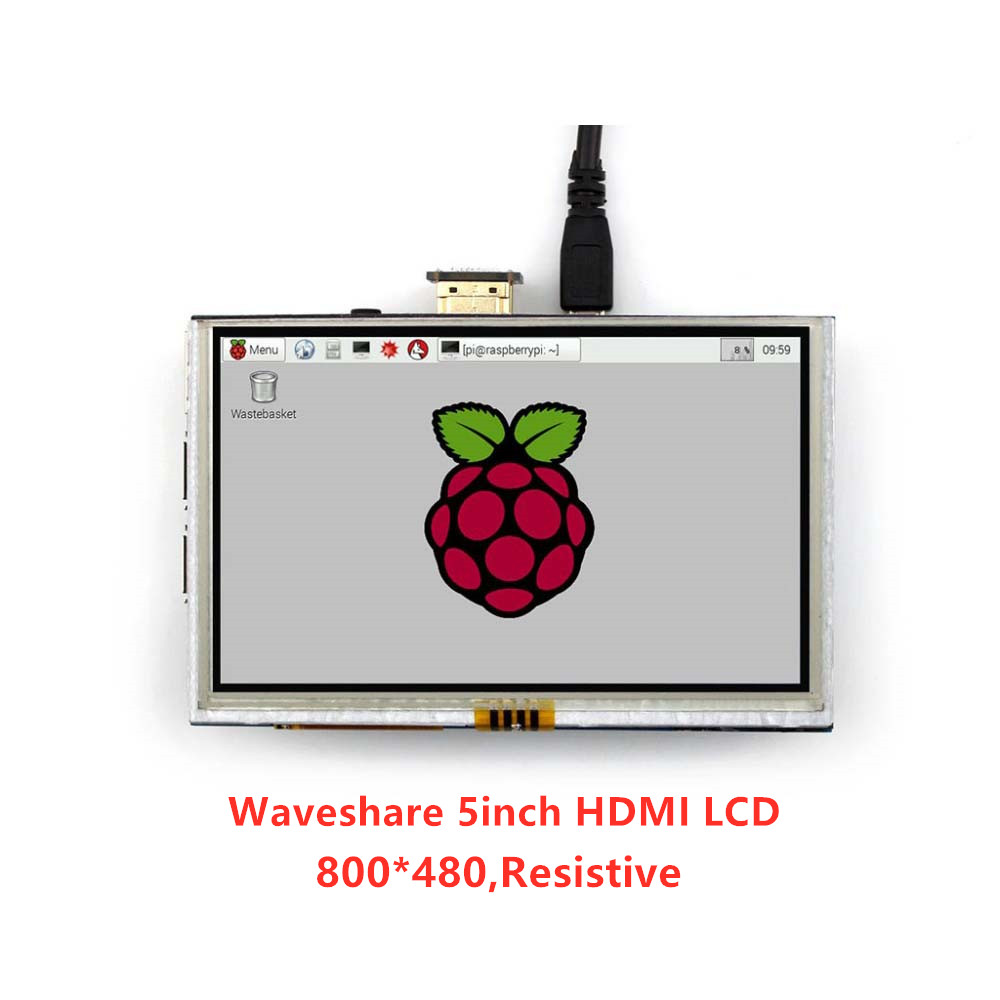 Waveshare 5 zoll 800*480 TFT Resistive Touch Screen Tablet HDMI Interface für Alle Rev von Rapsberry PI