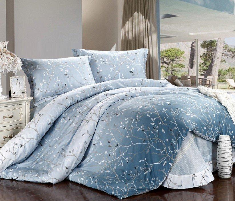 new beautiful 4pc 100 cotton comforter duvet doona cover sets full queen king size bedding. Black Bedroom Furniture Sets. Home Design Ideas