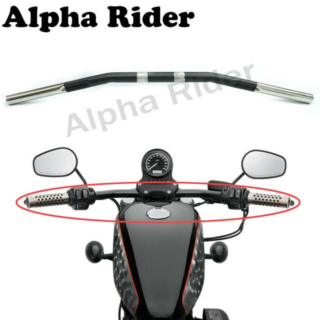 Motorcycle Retro Style Drag Bar Curved For Harley Sportster XL 1200 Iron 883 48 72 Roadster