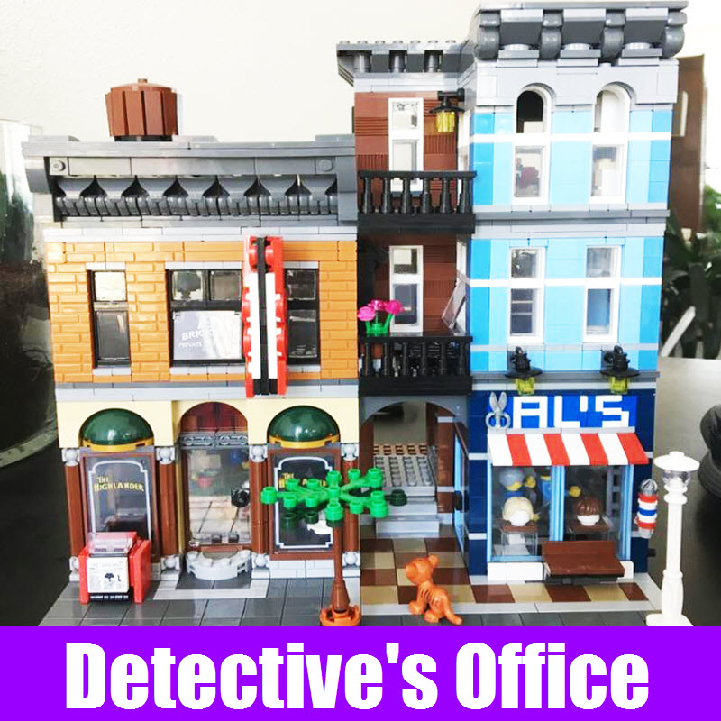 Lepin 15011 Creator City The Detective's Office Set Avengers Set Assembly Building Blocks Bricks Educational Children Toys 10197 lepin 15011 parsian creator expert city street resturant minifigure avengers set assemble building blocks toys compatible legeod