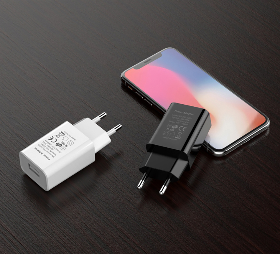 !ACCEZZ USB Charger 5V 1A Adapter For iphone 7 8 XS EU Plug Mobile Phone Wall Travel Charger Universal For Samsung S8 S9 Xiaomi (12)