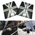 2Pcs Black Jack Union UK Flag Vinyl Stickers For Mini Cooper Mirror Covers (L&R)
