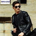 Port&Lotus Men PU Wool Liner  Jacket Thick Velvet Inside Coats For Winter New  Mens Pure Color Formal Clothing215HDLB8605