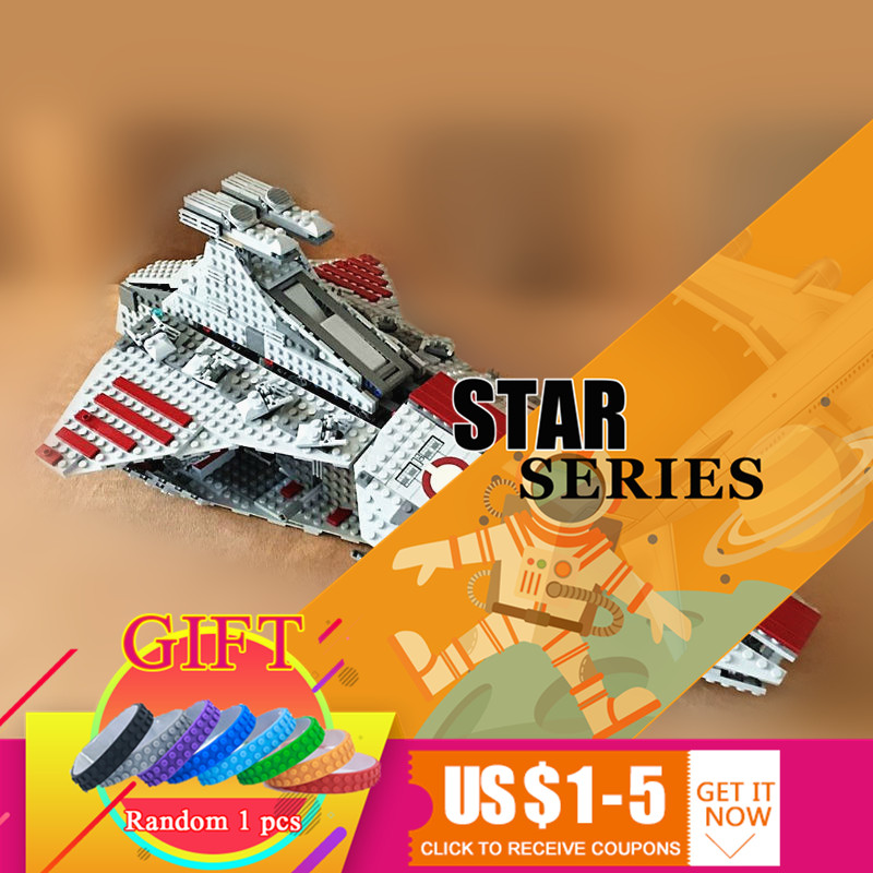 05042 1200pcs Star Classic Series Wars Republic Fighting Cruiser Set Educational Building Blocks Compatible With 8039 toys lepin new 1685pcs lepin 05036 1685pcs star series tie building fighter educational blocks bricks toys compatible with 75095 wars