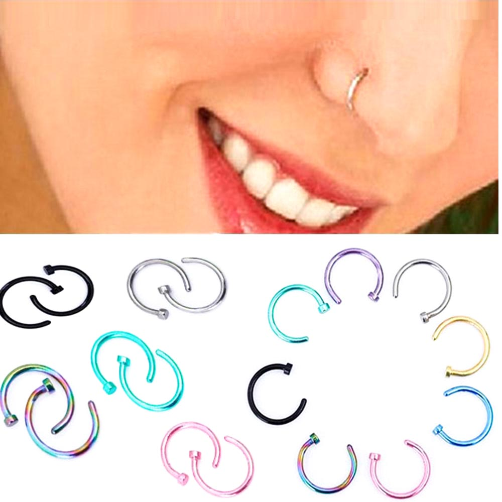 Top 10 Gold Fake Nose Rings List And Get Free Shipping M8ihj81m