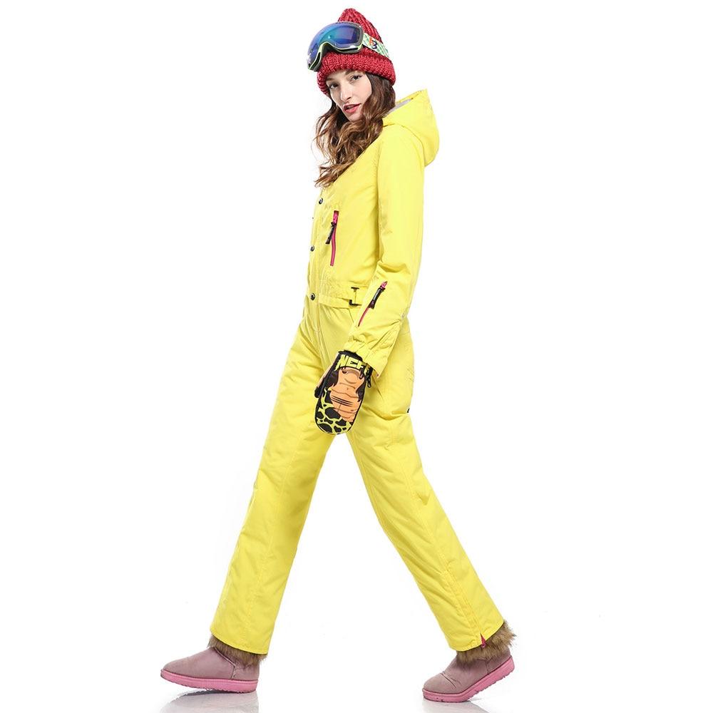 SAENSHING Ski costumes femmes une pièce hiver Ski costume imperméable thermique Ski costume respirant neige costume extérieur Ski femme