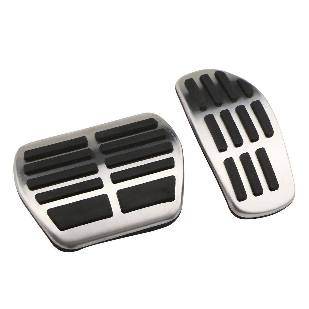 OLIKE 2 Pcs Aluminum Alloy Car Fuel Accelerator Pedal Brake Pedal Cover Kit for Nissan Rogue 2014-2018