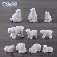 Lifelike Family Polar Bear action Figures White Bear Miniature Figurine Fairy home Garden Wedding Doll Decoration Girl toy gift цена в Москве и Питере