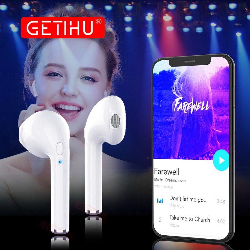 GETIHU Mini Jumeaux Bluetooth Sport Écouteurs Stéréo casque mini-Écouteurs sans fil Écouteurs mains libres Casque Pour iPhone Samsung