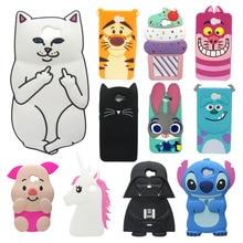 Cute Cartoon Cover Case For Huawei Y5II / Y5 II 2 Back ii 3D Stitch Minions Unicorn Sulley Cat Silicone case