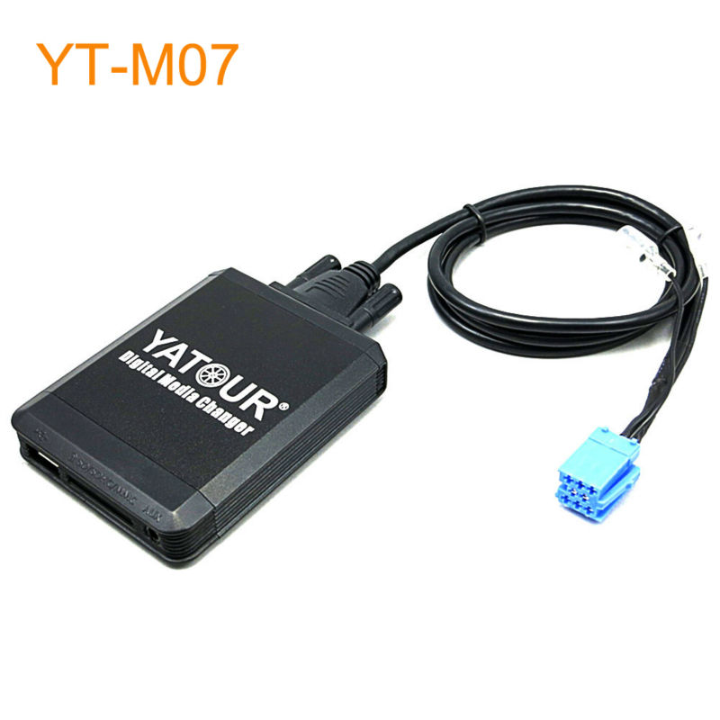 Yatour Car MP3 USB SD CD Changer for for iPod AUX with Optional Bluetooth for Peugeot 106 2006 206 206CC 307 406 407 806 807 yatour car mp3 usb sd cd changer for ipod aux with optional bluetooth for toyota carina celica coaster highlander land cruiser