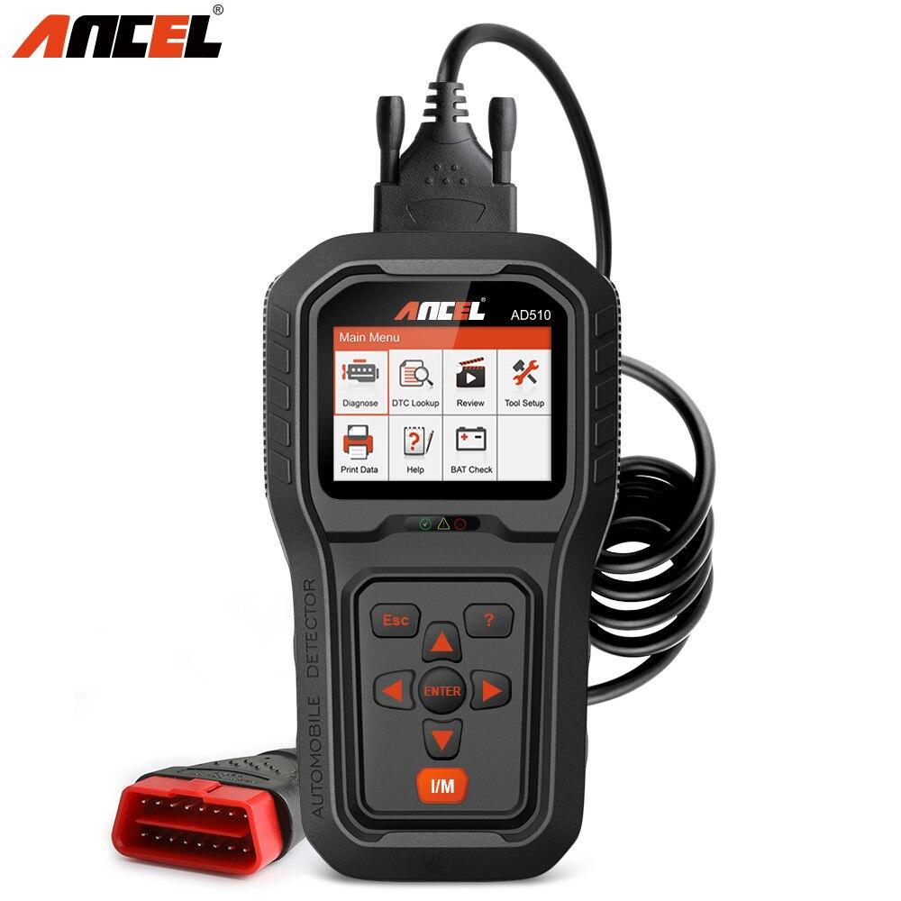 Ансель AD510 OBD2 сканер автомобилей средство диагностики obd2 код читателя сканирования полный ODB2 Автомобильная сканер для двигателя Батарея На...