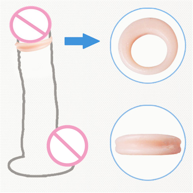 JEUSN Fleshcolor Flexible Foreskin Rings Delay Lasting Cock Rings 2Pcs/Set Sex Products For Men Adult Sex Toys Male Penis Sleeve