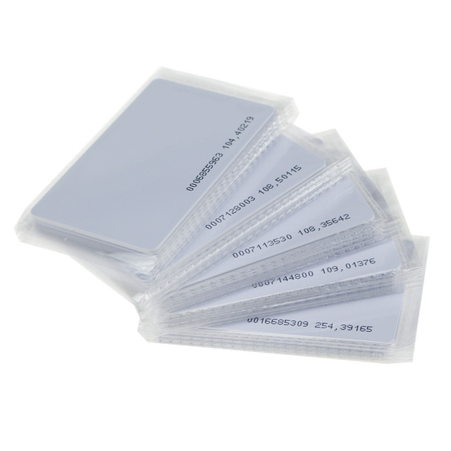 50pcs 125KHz RFID TK4100 blank card ID EM smart card Proximity access card for entry control system with unique number on it