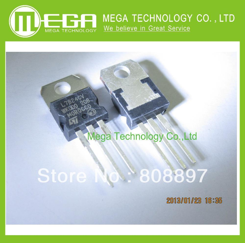 25 PCS L7824CV TO-220 L7824 LM7824 7824 Positive-Voltage Regulators