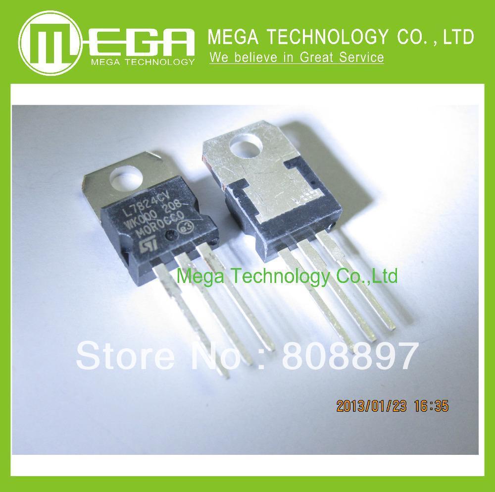25 PCS L7824CV TO-220 L7824 LM7824 7824 Positive-Voltage Regulators