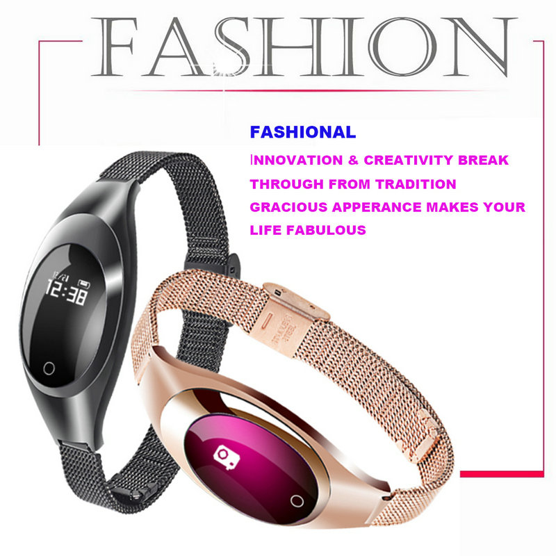 Z18 Red White Black Women Sport Bluetooth Smart Bracelet Fitness Pulsometer Heart Rate Monitor Smartband On Wrist ZIMINGU 17 10