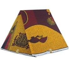 真のワックス保証本物のワックス高品質 pagne 6 ヤードアフリカアンカラ縫製生地
