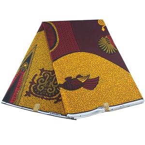 Image 1 - veritable wax guaranteed real wax high quality pagne 6yard african ankara sewing fabric
