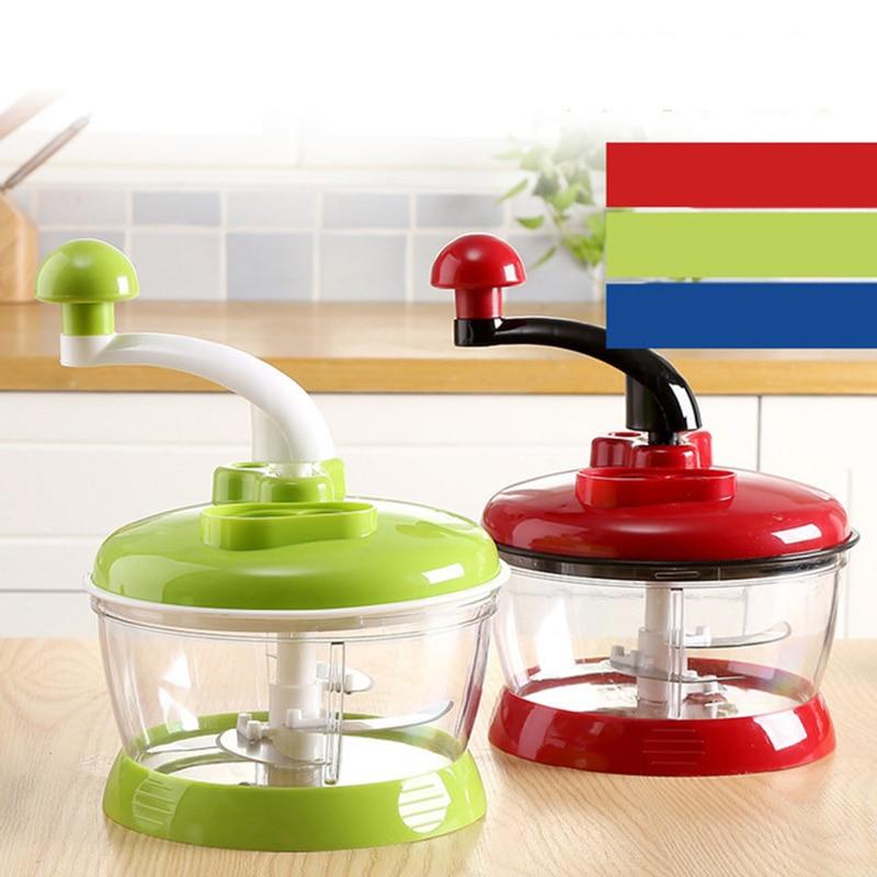 Portable Blender Manual Food Processor Multifunctional Kitchen Tools Round Spiral Vegetable Slicer Meat Grinder Chopper Mixer