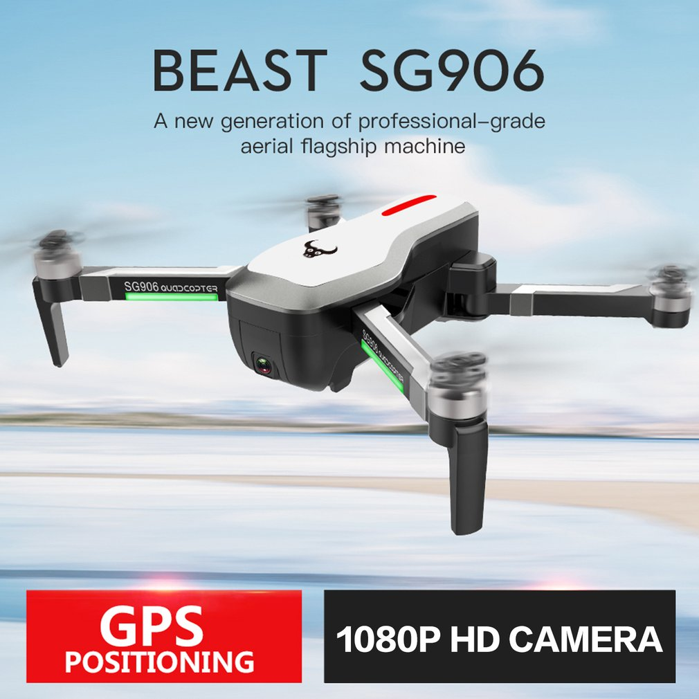 SG906 GPS 5G WI-FI FPV RC Drone Brinquedos Com Selfie Dobrável 1080 P/4 K Ultra HD Câmera RC Quadcopter RTF VS XS809S XS809HW SG106 Presente
