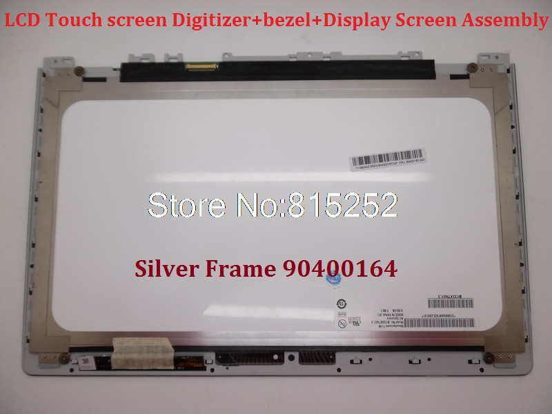 Laptop LCD Touch screen Digitizer+bezel+Display Screen Assembly For Lenovo Ideapad U330T U330 Touch 90400164 90400163 1366*768 lcd screen assembly for apple iphone 4 4g lcd display touch screen digitizer pantalla with frame bezel replacement black white
