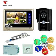Yobang Security freeship 7″ Color Video Door Phone Video Intercom Door bell Intercom IR Night Vision Camera Doorbell Kit Video