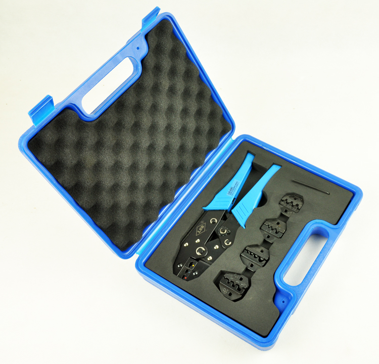 hand crimping tool set for crimping terminals and connectors LS03C-5D3 with crimping tool and replaceable crimping dies set LSD рубашка bgn bgn mp002xw1gxuk