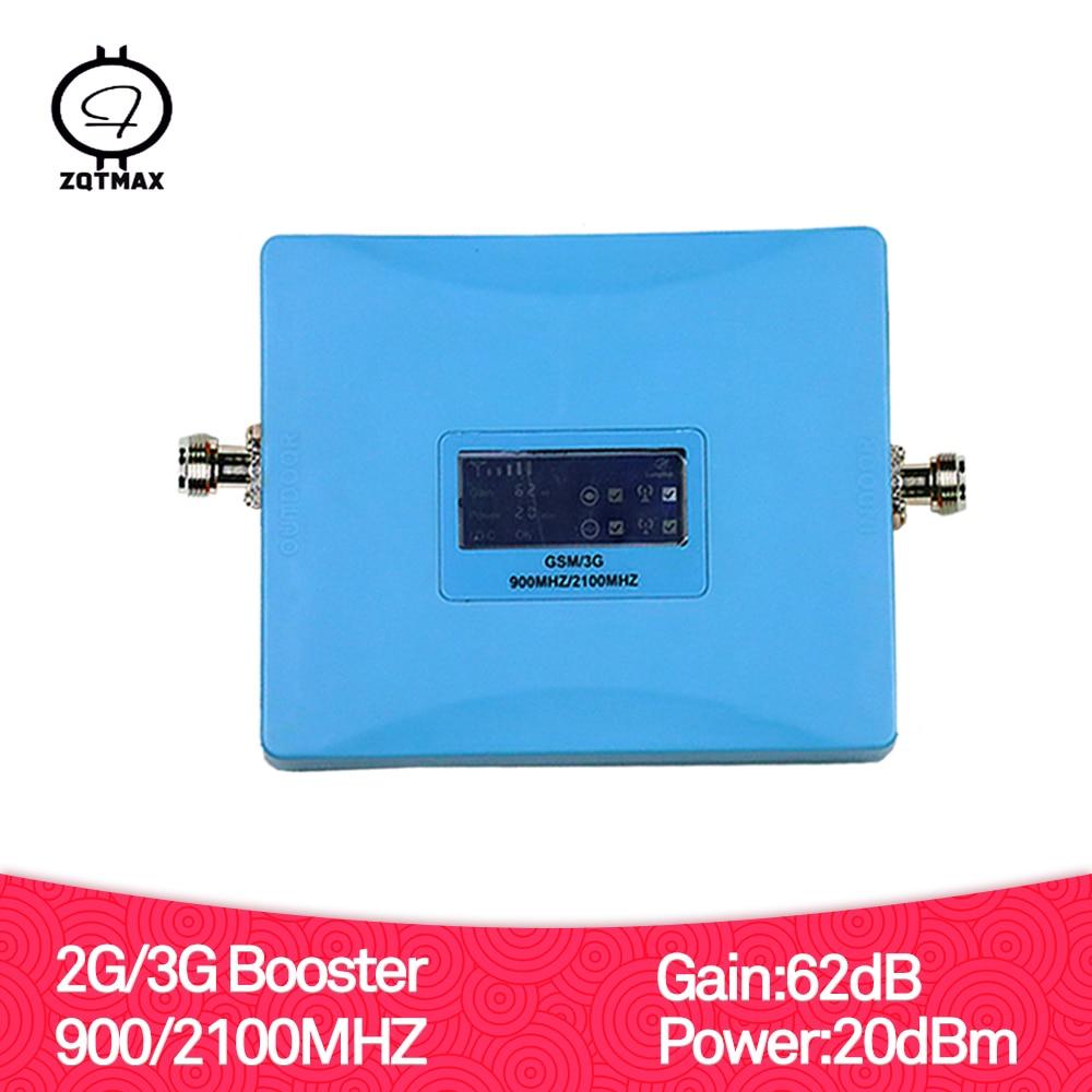 ZQTMAX GSM répéteur 2100 3G Booster amplificateur de Signal cellulaire gsm 900 3G UMTS 2100 mhz amplificateur de téléphone Mobile 900 2100 mhz répéteur