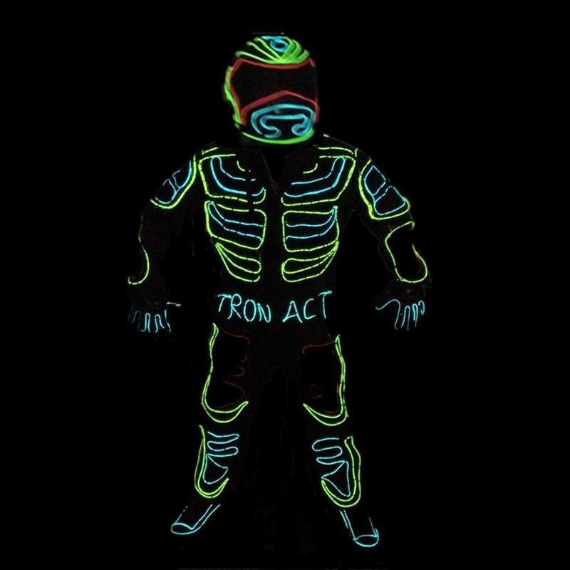 Led Growing Flashing Tron Robot Suit / EL Wire Costume Dance ...