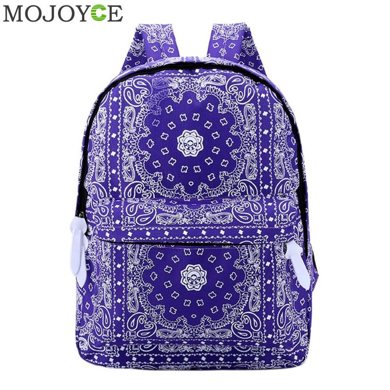 Ethnic Printed Women Backpack Fashion National Wind Backpack For Lady Practical Canvas Backpack Bags Girl School Rucksack 2018