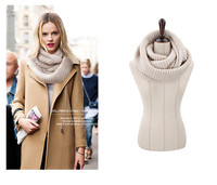 Hot Sale 2016 New Fashion Scarves Unisex Winter Knitted Wool Scarves Collar Neck Warmer Female Crochet