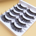 K16 Exaggerated Thick False Eyelashes Stagecraft Cross Black Makeup Long Fake Eye Lashes