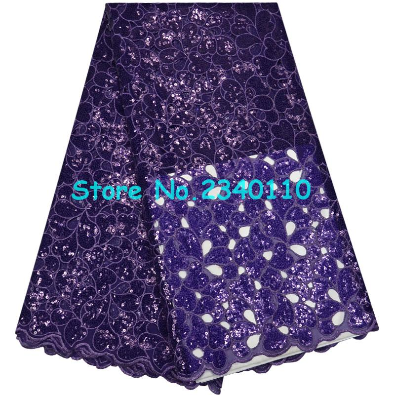 2018 High Quality African Lace Fabric French Net Embroidery Sequins Tulle Lace Fabric RT 0534