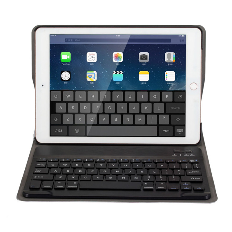 лучшая цена 2 in 1 Wireless Bluetooth Keyboard case For iPad Air 2 Tablet Keyboard For apple iPad air2 case A1566 A1567 Stand Funda