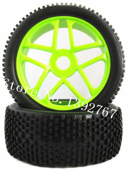 2 stks Rubber Banden & Velg Banden 112mm * 43mm Hexagon Adapter 17mm Voor 1/8 RC nitro Power Buggy Afstandsbediening Auto HSP HPI