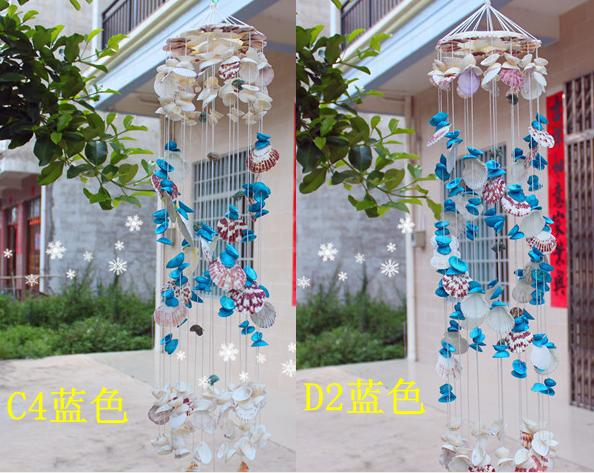 freeshipping Handmade shell wind chimes crystal style door wind chimes  metal ceramic wind chimes