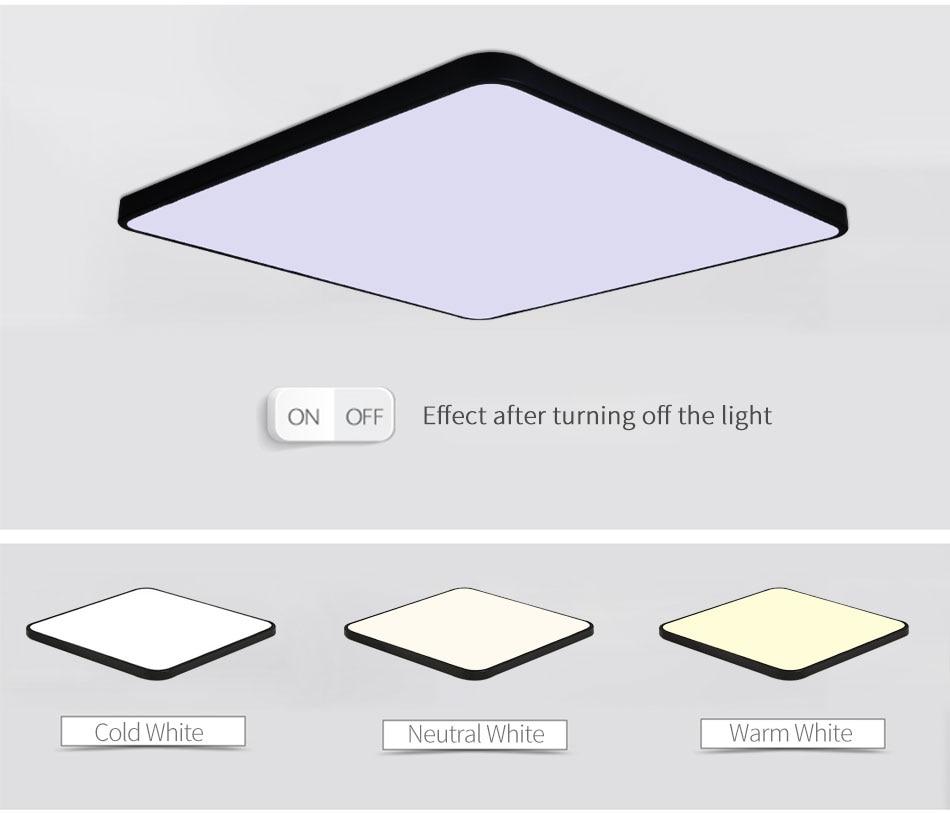HTB1hqg.ayHrK1Rjy0Flq6AsaFXan LED Ceiling Light Lamp Modern Lighting Fixture Bedroom Kitchen Foyer Simple Surface Mount Flush Panel Living Room Remote Control